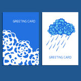 Set of greeting cards Royalty Free Stock Images