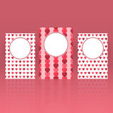 Set of greeting cards for St. Valentine's Day with hearts and roses background. Stock Image