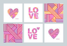 Set of greeting cards. Royalty Free Stock Photo