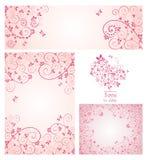 Set of greeting design Stock Photos