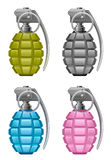 Set grenade Stock Photography