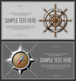 Set of grey abstract flyers Stock Photo