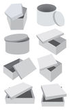 Set of  grey boxes Royalty Free Stock Photography