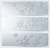 Set of grey christmas banners. Royalty Free Stock Photo