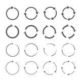 Set of grey circle  arrows Royalty Free Stock Photos