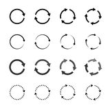 Set of grey circle vector arrows in modern style Royalty Free Stock Image