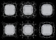 Set of grey frames. Set of square grey frames Royalty Free Stock Photography