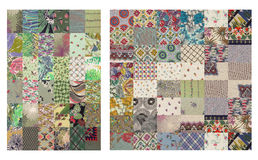 Set of grey quilt backgrounds stock photo