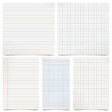 Set of grey paper Stock Image
