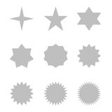 Set of grey stars Stock Photo
