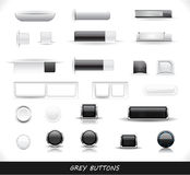 Set of grey web buttons Royalty Free Stock Photo