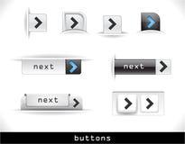 Set of grey web buttons Royalty Free Stock Photos