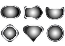 Set of grey web buttons Royalty Free Stock Images