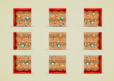 Set of ground sprites with candies for creating video games. Ground tile set with candies for creating video games Royalty Free Illustration