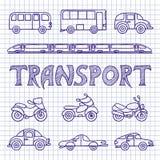Set ground transport sketch. Stock Images