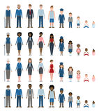 Set of growing up evolution. Set of growing up evolution on white background. All the stages of growing up from baby to old men Royalty Free Stock Photography
