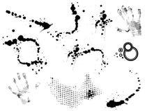 Set of grunge abstract blots Stock Image