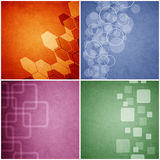 Set of Grunge abstract paper background.  Stock Photos