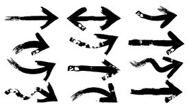 Set of Grunge Arrows Stock Images