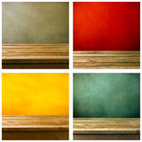 Set of grunge backgrounds royalty free stock images
