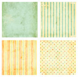 Set of grunge backgrounds. Collection of grunge backgrounds with dots pattern and paper texture royalty free stock photos