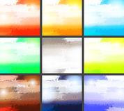 Set of grunge backgrounds. This is file of EPS10 format Stock Photography