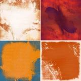 Set of grunge backgrounds. Illustration Royalty Free Stock Photo