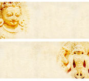Set of grunge backgrounds with paper texture and landmarks of India Stock Images
