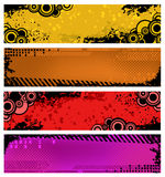 Set of grunge banners Royalty Free Stock Photos