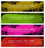 Set of grunge banners Stock Photo