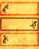 Set of banners with African traditional patterns Royalty Free Stock Image