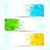 Set of grunge banners Royalty Free Stock Photography