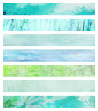 Set of grunge banners Royalty Free Stock Image