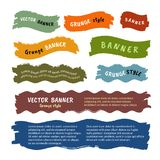 Set of vector grunge banners Royalty Free Stock Photos