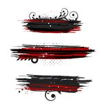 Set of grunge banners Royalty Free Stock Photo