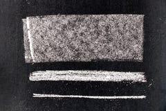 Set grunge bielu kredy sztuki muśnięcie w kwadratowym kreskowym kształcie Fotografia Stock