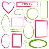 Set of grunge brush frames. On white stock illustration
