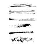 Set of grunge brush strokes. / Ink vector illustration