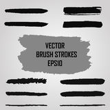 Set of grunge brush strokes. Jpeg version also available in gallery. Royalty Free Stock Photos