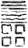 Set of Grunge Brushes. Set of messy, sketched grunge brushes and frames. All elements are on same layer vector illustration