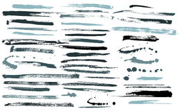Set of grunge brushes. / ink strokes Royalty Free Stock Images