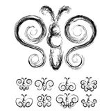 Set of grunge butterflies Stock Image