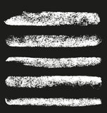 Set of grunge chalk brushes. Stock Image