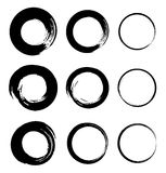 Set of Grunge Circle Stains. Vector illustration Royalty Free Stock Image