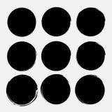 Set of grunge circles. Vector grunge round shapes. Vector illustration EPS 10 Royalty Free Stock Photo