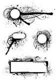 Set of grunge designs Stock Photo