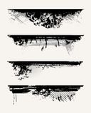 Set of grunge edges. Vector illustration in black color vector illustration