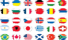 Set of grunge flags. Set of flags on a white background Royalty Free Stock Photo