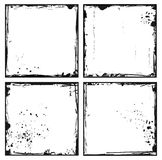 Set grunge frames Royalty Free Stock Image