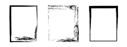 Set of grunge frames. Abstract background. Vector Royalty Free Stock Photography